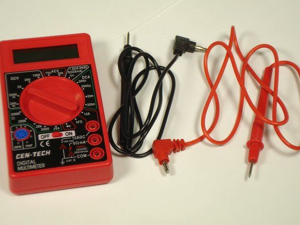 Image 1/2: Turn the multimeter on.