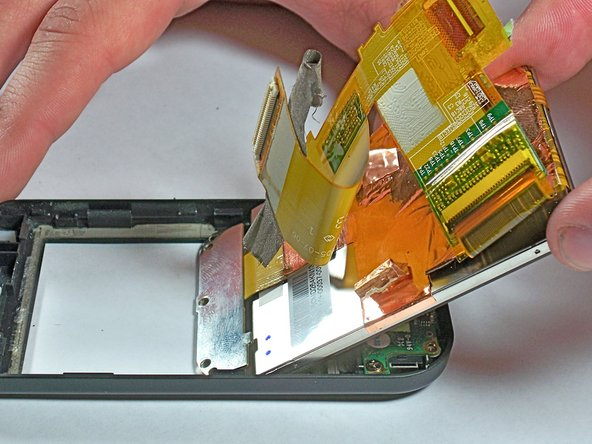 Image 3/3: Use your hand to lift the screen completely away from the case.