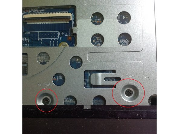 remove aslo the screws ( red circkle)