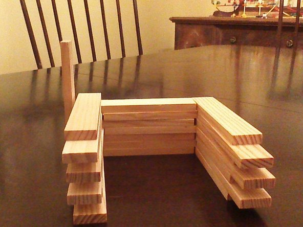 Stack the pieces with an overlap on the end of the piece.