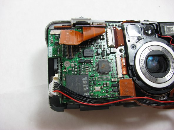 Canon PowerShot S50 Left Motherboard Replacement
