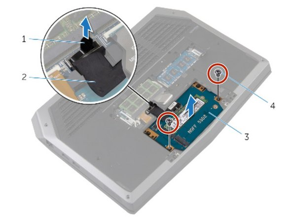 Replace the screws that secure the solid-state drive assembly to the computer base.