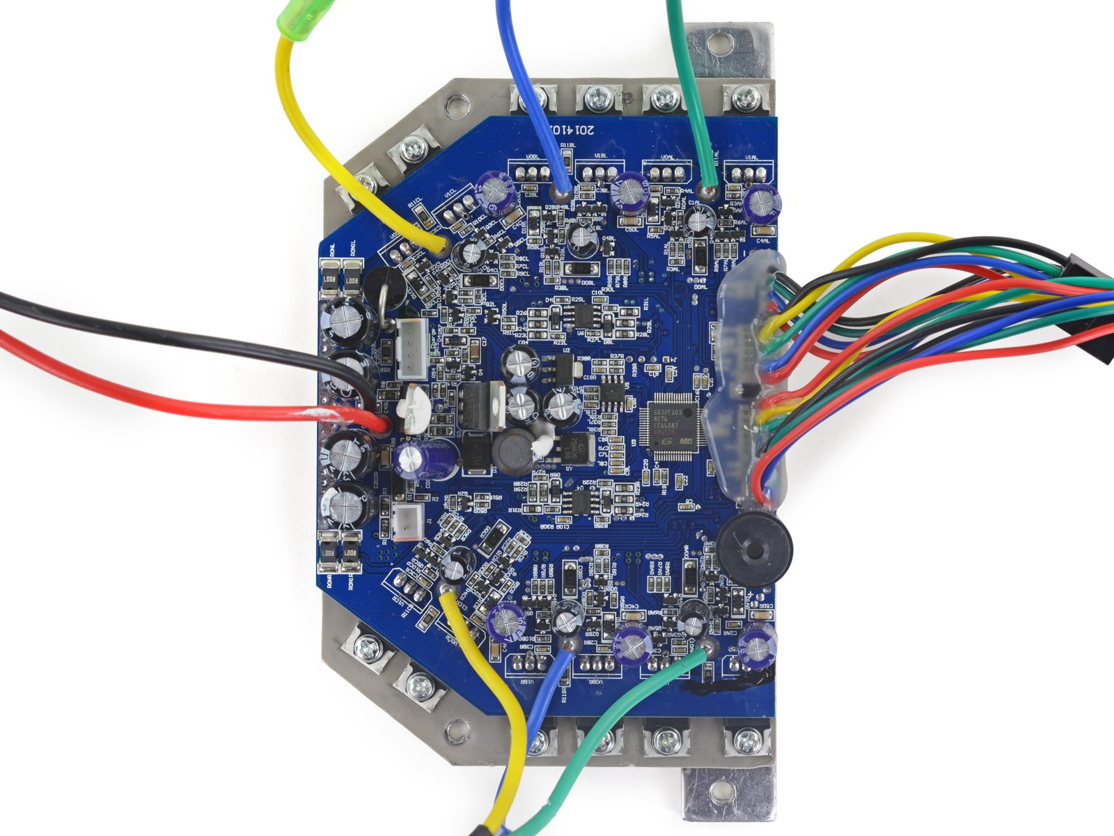Swagboard Teardown What Makes A Safe Hoverboard Ifixit Or This If You Secured It With Hot Glue And Used Circuit Board Identified By Ken The Main Focus Of Control Is Six Half H Drivers Which Drive Two 3 Phase Motors That Doesnt Make Any Sense To