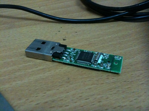 Use soldering iron for take USB from flash drive.