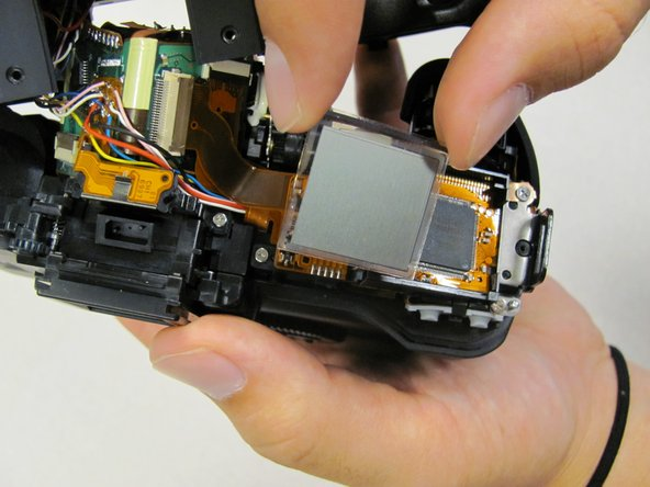 Lift LCD screen out of mount.