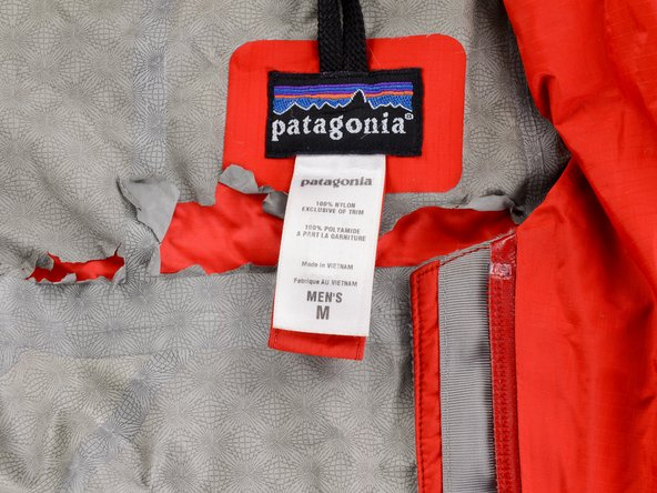 This is where you'd find the style number on a Patagonia jacket.