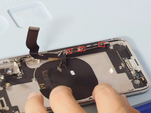 Release 4 screws on the frame shown in the picture