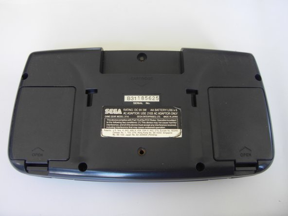 Sega Game Gear Battery Replacement
