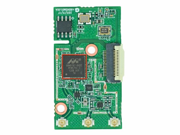 A Marvell Avastar 88W8787 WLAN/Bluetooth/FM Single-Chip SoC brings life to what would otherwise be a very bland and boring board.