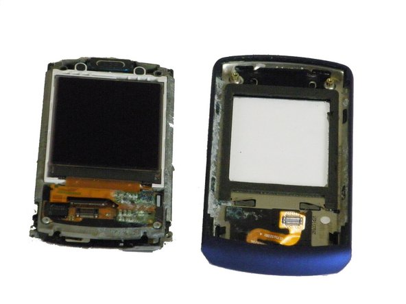 Image 3/3: Pull the plastic screen casing directly away from the LCD unit.