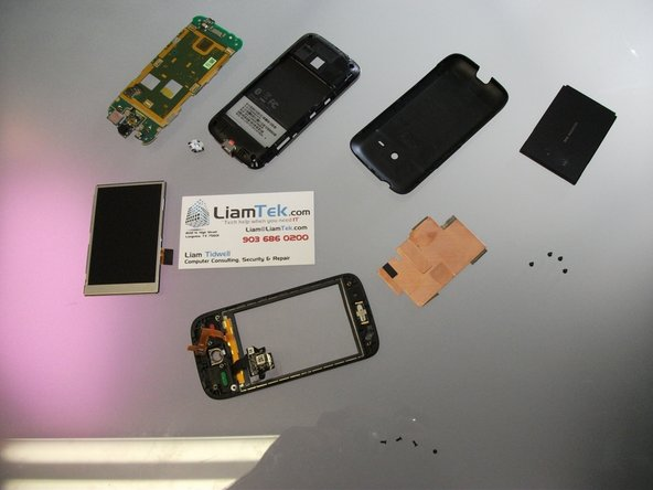 If replacing the digitizer, you may either replace the entire front as part of an assembly or use a heat gun to separate and replace the glass only.