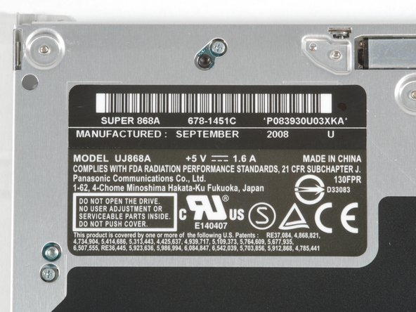 Image 3/3: The rightmost photo is a shot of the new drive label.