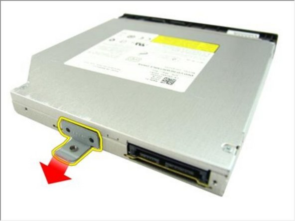 Remove the optical drive bracket from the optical drive module.