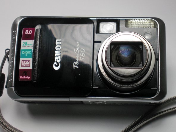 Disassembling Canon PowerShot S80 Outer Casing