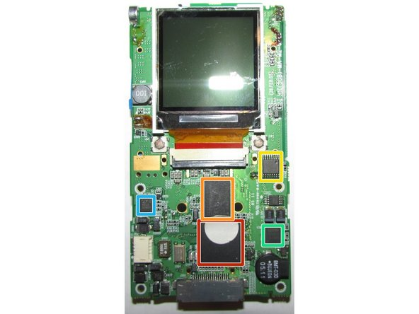 Main PCB Front Side Chip Identification (Part 1):