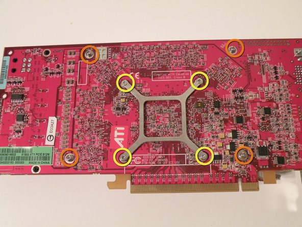 Removing the heatsink from the card: