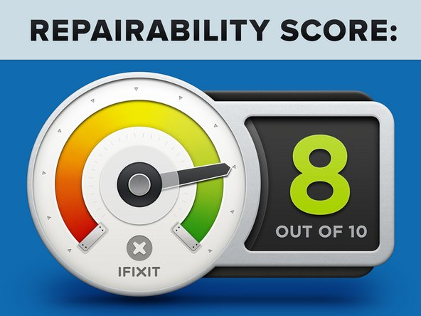 CucinaPro Cordless Crepe Maker earns a 8 out of 10 on our repairability scale (10 is the easiest to repair).