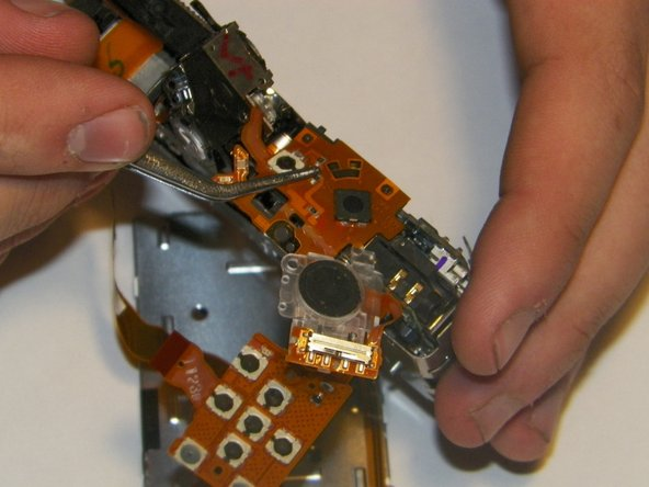 Image 1/3: Be aware that the optical viewfinder is connected to the top control board and should come out with it.