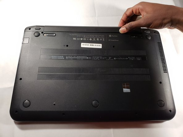 Pull out the battery from the device's battery slot.