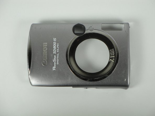 Disassembling Canon PowerShot SD800 IS Front Cover