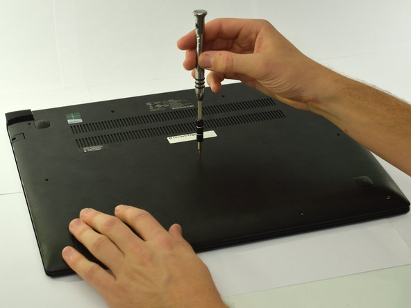 Unscrew the screws using the Phillips #0 screwdriver.