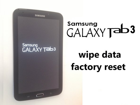 Samsung Galaxy Tab 3 Blocco Password / Reset di fabbrica