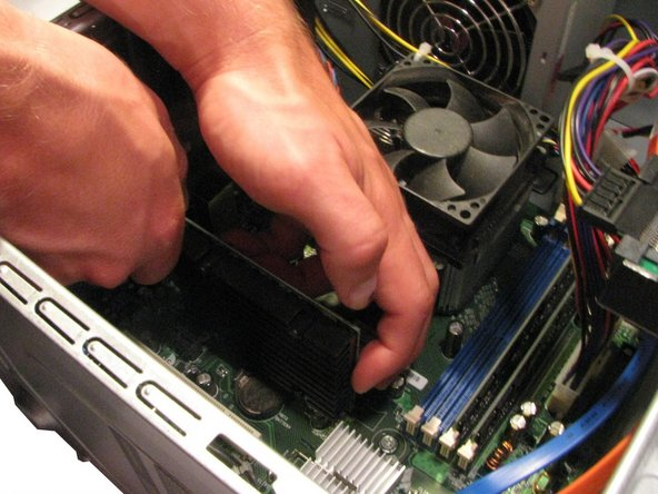 Keep the tab pushed away from the graphics card (see Step 6).