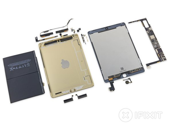 iPad Air 2 Repairability Score: 2 out of 10 (10 is easiest to repair)