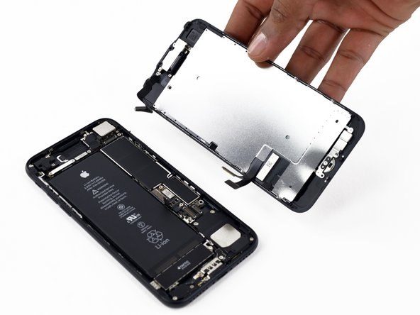Image 1/1: During reassembly, pause here if you wish to [https://www.ifixit.com/Guide/iPhone+Display+Adhesive+Replacement/93983|replace the adhesive around the edges of the display|new_window=true].