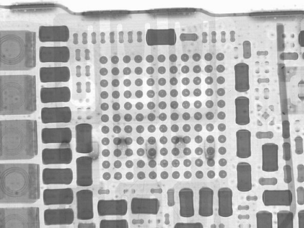We know voids in ball grid arrays (BGA) can be problematic to the reliability of any electronic product. In our x-ray inspection of the iPhone 5S, we noticed that the Apple 338S120L chipset had a large number of voids. So the natural next step was to use the BGA inspector included in the TruView 200 to measure the voids.