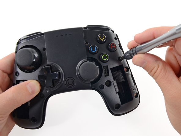 The controller is outfitted with 15 buttons, two analog sticks, and a capacitative touchpad.