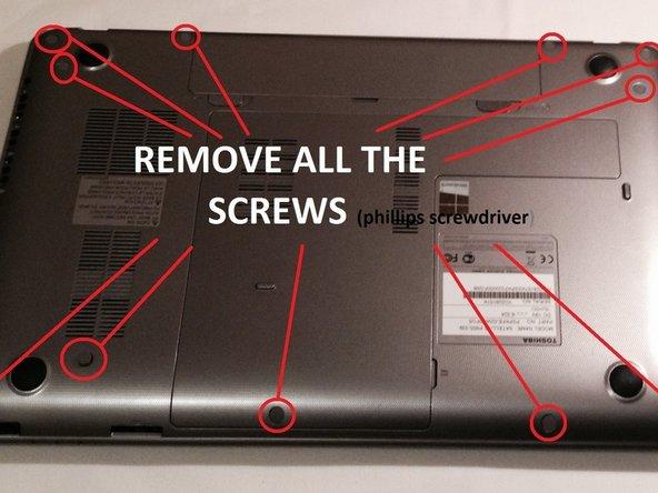 2. unscrew the 12 screws.