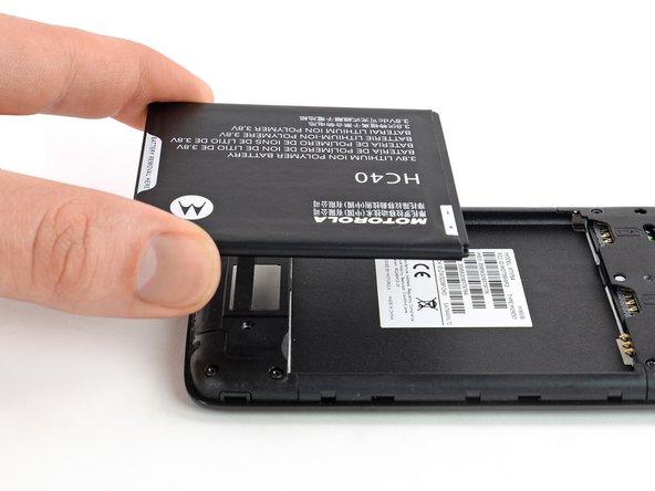 Sostituzione batteria Moto C