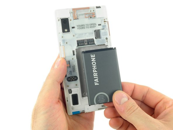 Remplacement de la batterie du Fairphone 2