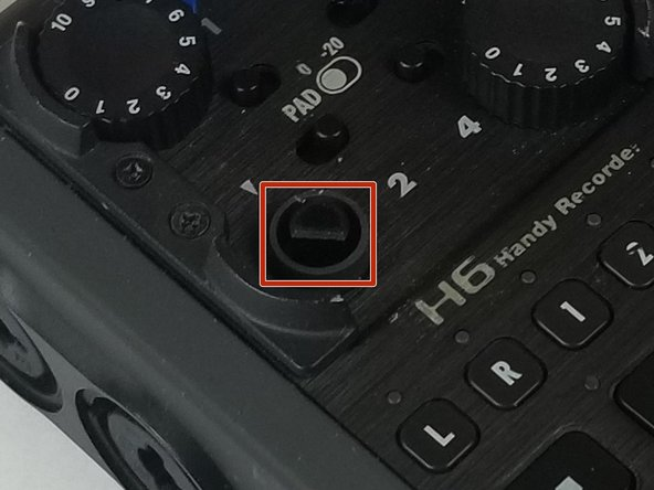 Take the new knob and align it to the correct orientation of the device.