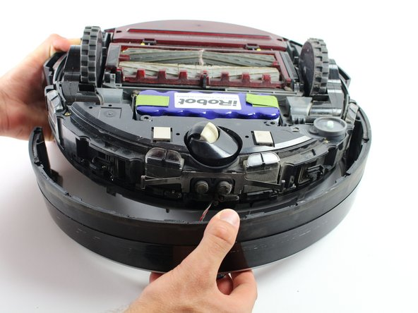 Be careful when removing the bumper from the Roomba to prevent damage to the sensor wires. Remove slowly!