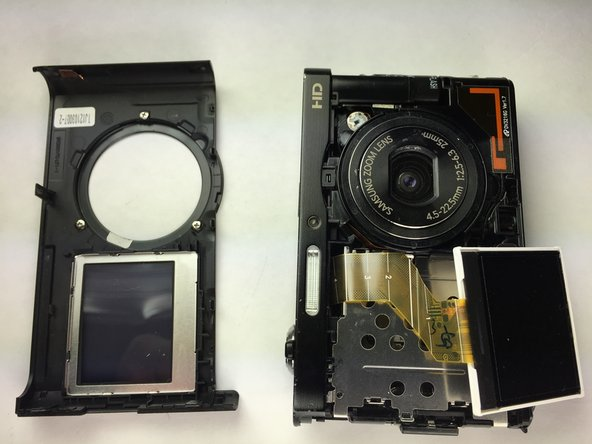 Take off the front LCD gently, so the front casing is completely free