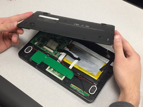 Remove the cover off the back of the device.