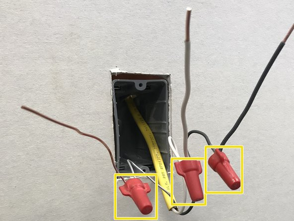 Secure the wires by using wing nut wire connectors.