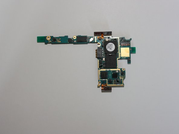 The board with removed EMI shields.