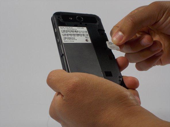 Remove SIM card.