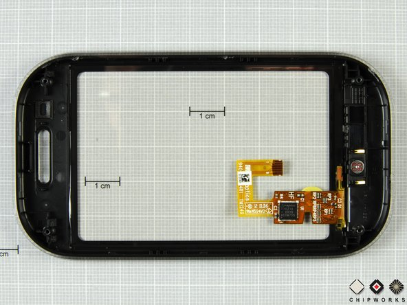 The digitizer is a Synaptics unit, and the main controller chip is labeled T1021A 1 0939 ACOM755.