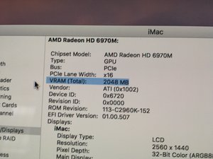 SOLVED: What GPU's are compatible with iMac 27