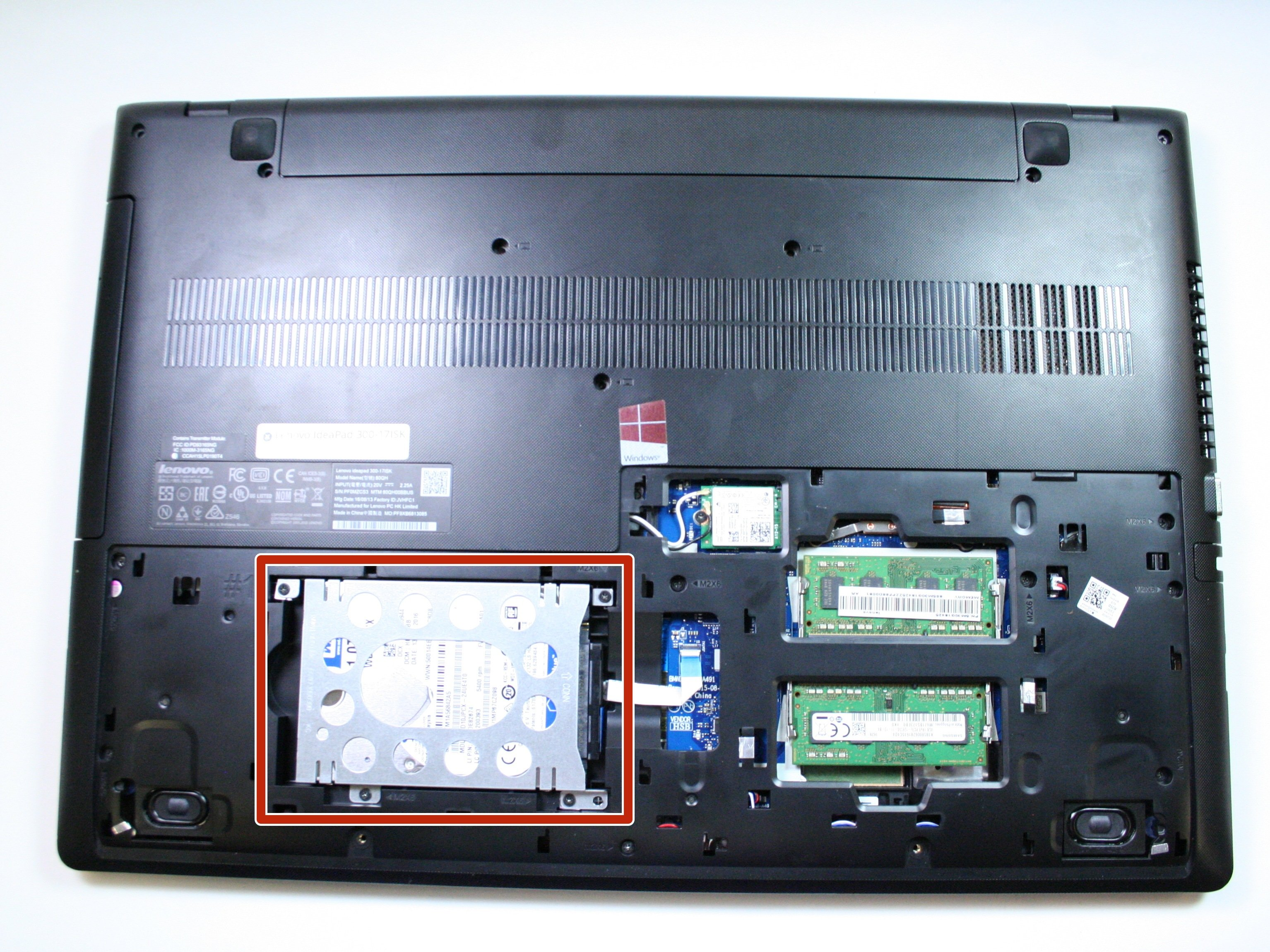 Lenovo IdeaPad 300-17ISK Hard Drive Replacement - iFixit