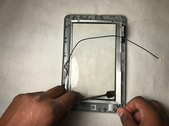Peel off the thin metal frame