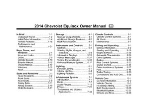 2014 Chevrolet Equinox Owner Manual