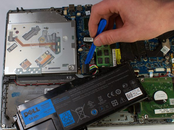 Then, plug your replacement battery into the new connection.