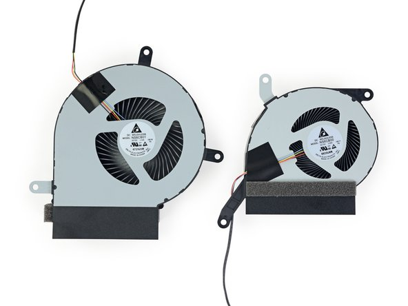 With a bit more finagling, we extract the two brushless, Delta-made exhaust fans.