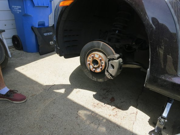 With the front wheel off repeat step 4 and step 5 to remove the rear wheel as well.
