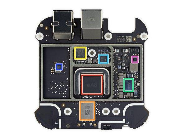 Apple A8 APL1011 SoC, with SK Hynix H9CKNNNBKTBRWR-NTH 2 GB LPDDR3 SDRAM